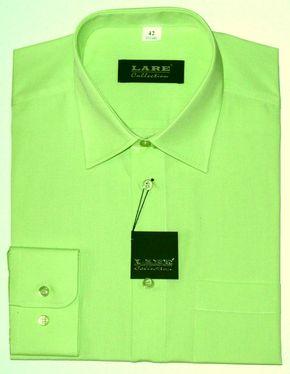 3897ff38c4c Prodloužené pánské košile s DLOUHÝM rukávem-BARVA 112 - ZELENÁ