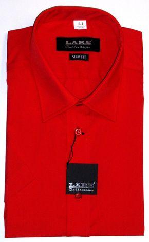 a245f88cbfe Jednobarevné pánské košile s KRÁTKÝM rukávem - SLIM FIT a REGULAR FIT-BARVA  140 -