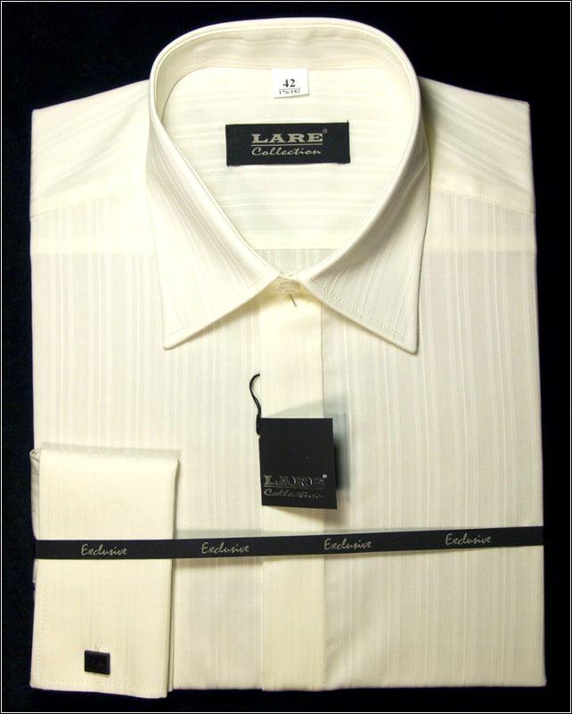 778117fb2b7 Společenské pánské košile - CEREMONY s dlouhým rukávem-CEREMONY C8 -  CHAMPAGNE S JEMNÝM PROUŽKEM