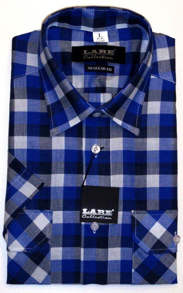 Vzorované pánské košile BAVLNĚNÉ s KRÁTKÝM rukávem-DANIEL D3 55bf64523d