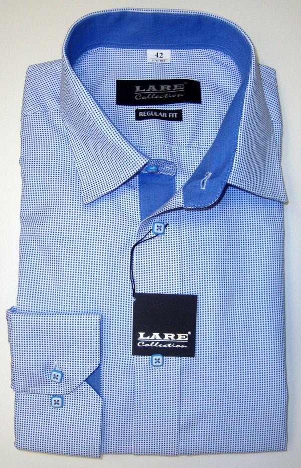 Vzorované pánské košile s DLOUHÝM rukávem - REGULAR FIT a SLIM FIT-GALLANT  G192 f82318df4c