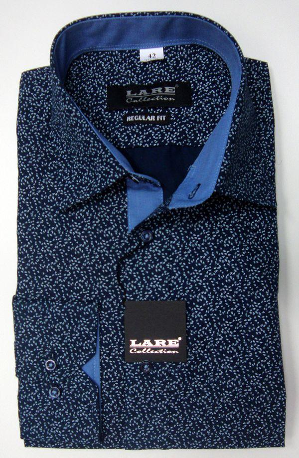 Vzorované pánské košile s DLOUHÝM rukávem - REGULAR FIT a SLIM FIT-GALLANT  G193 96250893b6