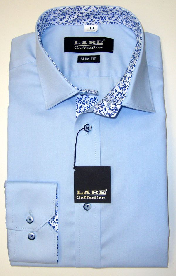 e8fbf6238026 Jednobarevné pánské košile s DLOUHÝM rukávem - SLIM FIT a REGULAR FIT-THOMAS  T200 -